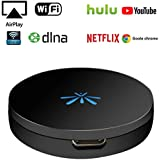 YEHUA Wireless Display Dongle HDMI Receiver 1080P Streaming Media from Phone/PC to HDTV Support Miracast Airplay DLNA(Paid Encrypted Video just for Android Phone)