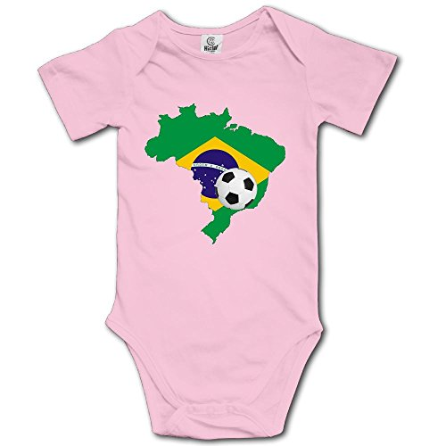 SOURCE POINT Brazil Map Soccer Newborn Girl Boy Romper Jumpsuit Bodysuit Baby Outfits Infant Clothes