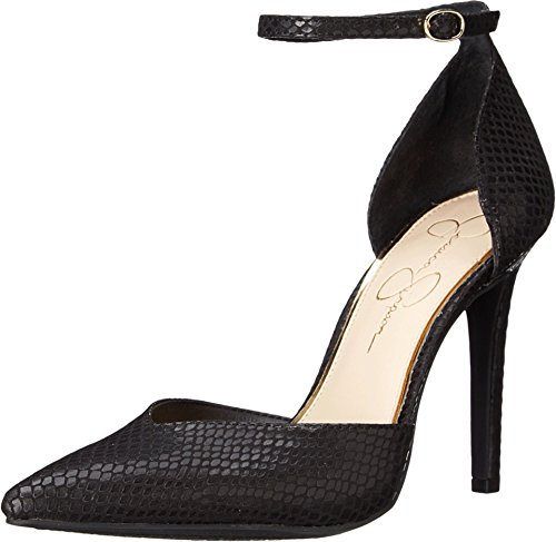 Jessica Open Platforms Simpson Toe (Jessica Simpson Women's Cirrus Dress Pump, Black Snake, 6.5 M US)