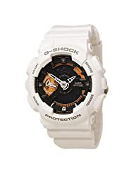 "Casio Designer GMA-S110CW-7A2 Nicholas K Fashion Watch S-Series ""Cool White"" September 2015 Released Black face"