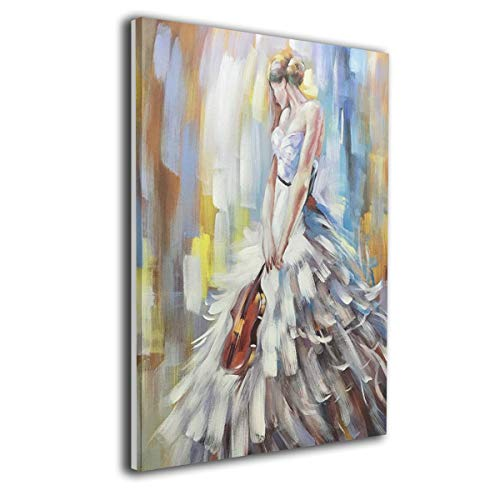 Jemeira Atwood Modern Abstract Artwork Violin Girl Wall Art Decor Poster Artworks Painting Print Artwork for Home Decorations Wall Decor None Frame Ready to Hang