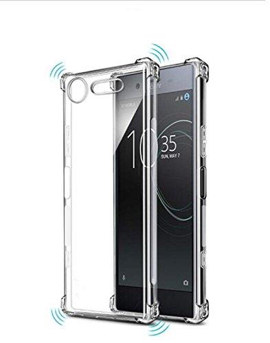 (TIYA Case Clear for Sony Xperia XZ Premium TPU Four Corners Cover Transparent Soft)