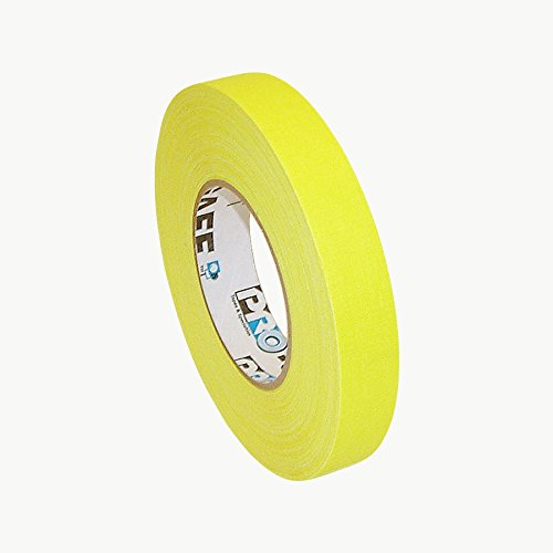 Gaffers Tape Yellow - Pro Tapes PRO-GAFF-NEON/FLYE150 Pro-Gaff-Neon Premium Fluorescent Gaffers Tape: 1