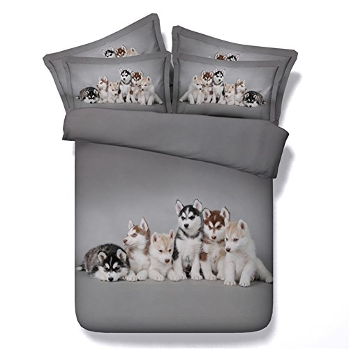 cute Husky Dogs Bedding Set