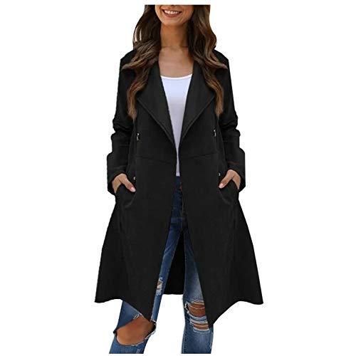 LISTHA Long Coat Women Lapel Parka Overcoat Winter Outwear Jacket Warm Cardigan