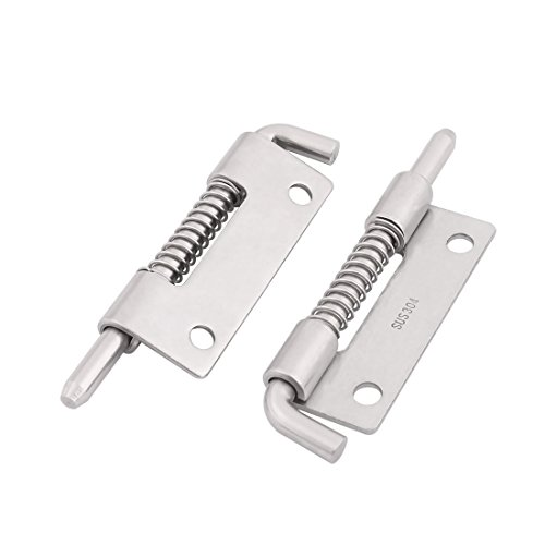 uxcell Home 304 Stainless Steel Door Gate Spring Latch Box Bolt 3.3 Inch Length 2pcs