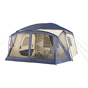 12-Person Cabin Tent with Screen Porch (Blue)  sc 1 st  Amazon.com & Amazon.com : 12-Person Cabin Tent with Screen Porch (Blue ...