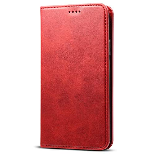 (SUTENI Wallet Case for iPhone XR/iPhone 10R (2018), PU Leather Wallet Cellphone Case Flip Folio [Kickstand Feature] with ID&Credit Card Slots Note Pocket for Apple iPhone 10R / XR 6.1 inch (Red))