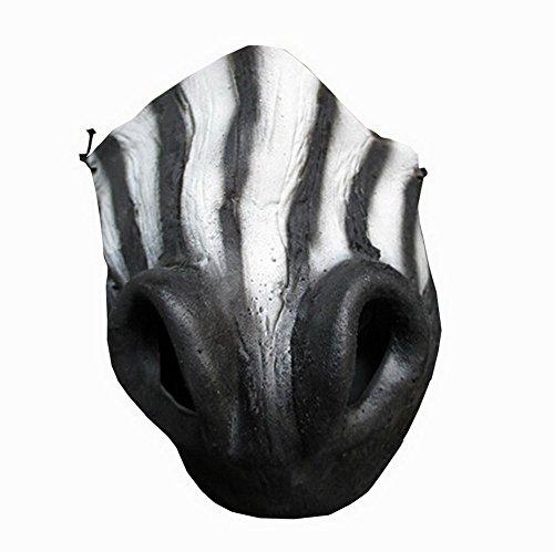 [The Mask BizTM Zebra Face Cute Head Head Mask Latex] (Zebra Head Costumes)