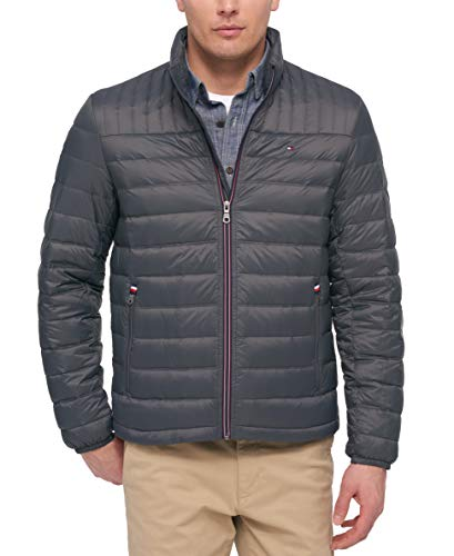 Tommy Hilfiger Men's Ultra Loft Packable Puffer Jacket, Charcoal Medium