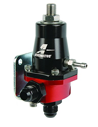 Aeromotive 13105 Regulator, Compact EFI, Billet, Adjustable, EFI, (1) AN-6 male inlet and return