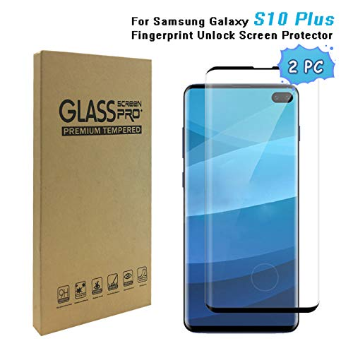 Galaxy S10 Plus 6 4 Screen Protector 9h Hardness Anti Fingerprint Ultra Clear Bubble Free Tempered Glass Screen Protector Compatible With Galaxy S10 Plus 2packs