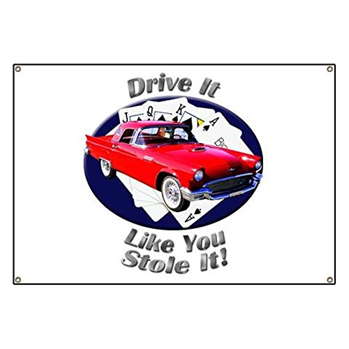 CafePress Classic Ford Thunderbird - Vinyl Banner, 44
