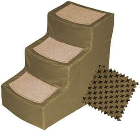 Designer 3 Step Pet Stair with Removable Cover Color: Tan by Pet Gear