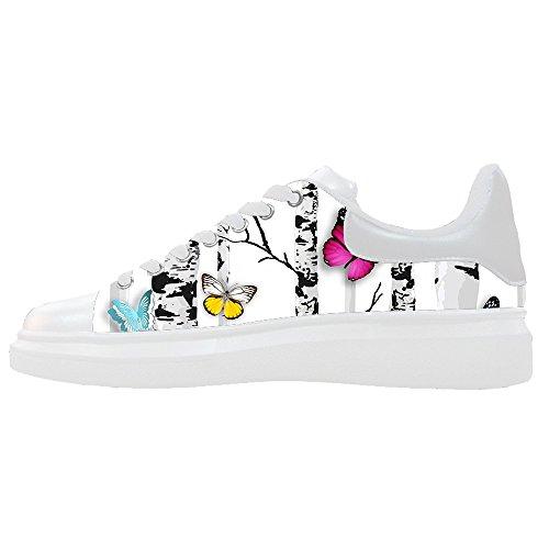 Shoes Le Women's Canvas Colore Butterfly Flying Custom Scarpe Scarpe O6waxqXv
