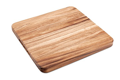 12 Square Cutting Board (Ironwood 28737 Oslo Long Grain Square Utility Board, One Size, Acacia Wood)