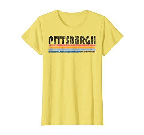Womens Vintage 1980S Style Pittsburgh Pennsylvania T Shirt Xl Lemon