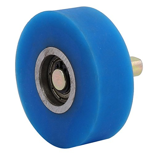 uxcell 10mm Diameter Shaft 60mmx20mm Coating Machine Silicon Rubber Wheel Roller Blue by uxcell