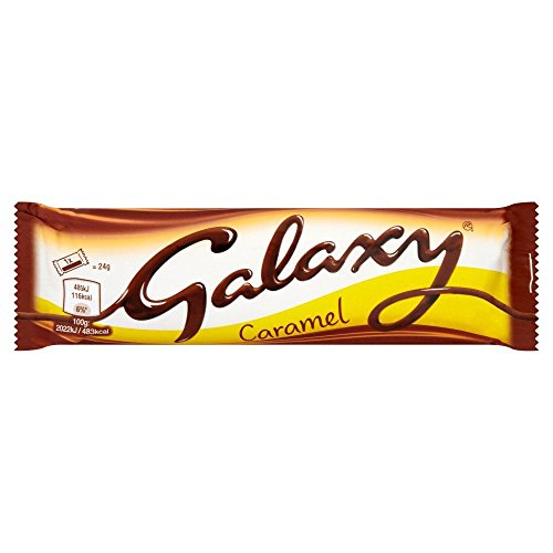 Galaxy Twin Caramel Chocolate Bar - 48g - Pack of 6 (48g x 6 Bars) ()