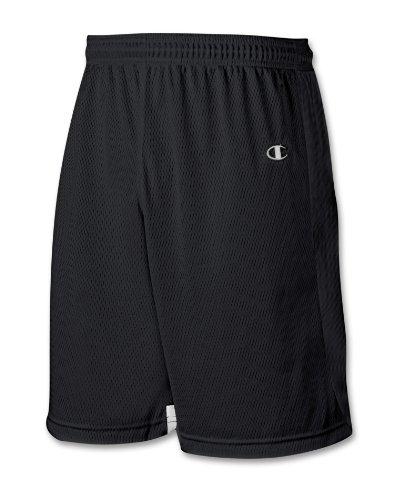 Short De Lacrosse Champion Double Dry® Pour Homme # Lx45 Noir / Blanc