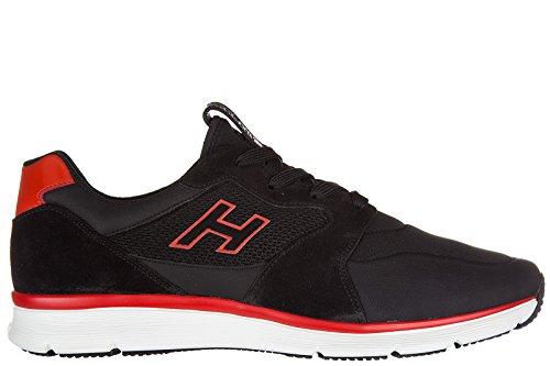 Hogan Uomo Scarpe Sneakers In Pelle Da Uomo H254 H Flock Nero