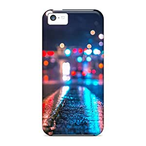 Waterdrop Snap-on Rainy City Night Case For Iphone 5c