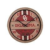 FOCO Oklahoma Sooners NCAA Barrel Wall Clock