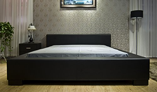 greatime b1142 queen black modern platform bed