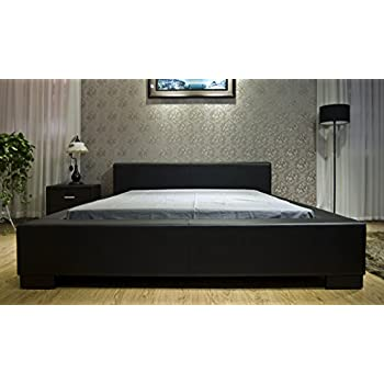 black modern platform bed. greatime b1142 queen black modern platform bed i