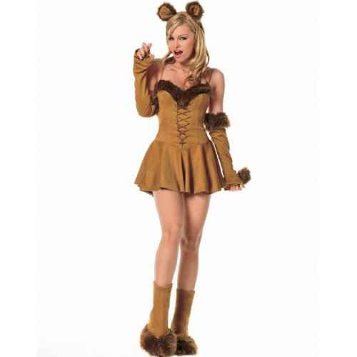 Leg Avenue Lion Costumes - Leg Avenue Women's Cuddly Lion Costume, Brown, X-Small