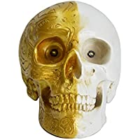 HOMESHINE Resin Wireless Skull Bluetooth Speaker Phone Accessories with LED Lights