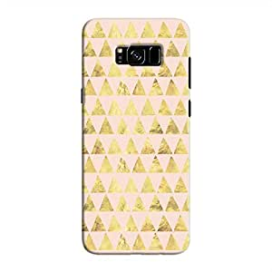 Cover It Up - Gold Pink Triangle Tile Galaxy S8 Plus Hard Case