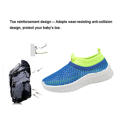 CIOR Kids Light Weight Sneakers AquaShoes Breathable Slip-on For Running Pool Beach Toddler/Little Kid,S633Blue,22 4