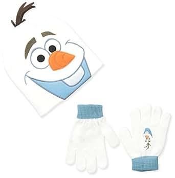Berkshire Big Boys' Frozen Olaf Beanie and Glove Set, Multi, One Size