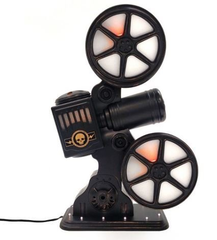 Halloween Rotating Movie Projector with Sound and LED Bulbs
