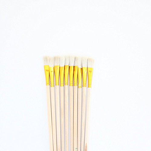 10 pcs White Wool Brush,Sweep Gold Leaves,Good