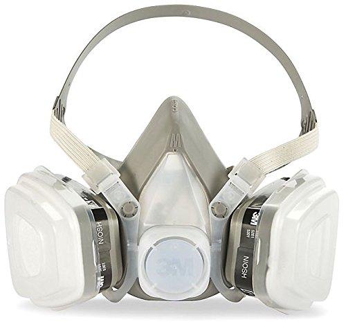 3M 53P71 Half Mask Respirator, Organic Vapor P95 Series 5000, Disposable Dual Cartridge Air Purifying Mask, Large ()