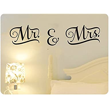 48  Mr. And Mrs. Wedding Marriage Word Saying Wall Decal Sticker Art Mural Home Décor Quote Bedroom Love