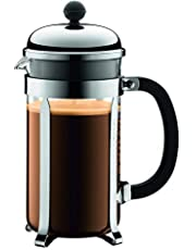 BODUM CHAMBORD 8 Cup Coffee Maker, Shiny, 1.0 L