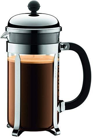 BODUM - 1928-16 - CHAMBORD - Cafetière à piston - 8 Tasses - 1.0 L