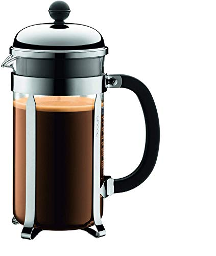 BODUM Chambord 8 Cup French Press Coffee Maker, Chrome, 1.0 l, 34 oz