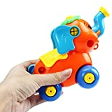 Hot Sale! Canserin Kids Christmas Gift Disassembly Elephant Car Toys Educational Toys for Children GN