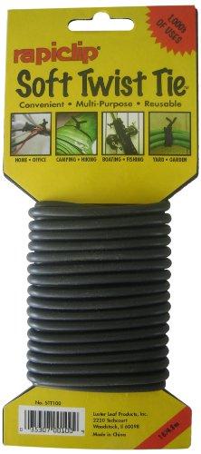 41vPlTfDNyL Luster Leaf STT100 Soft Twist Tie, Black