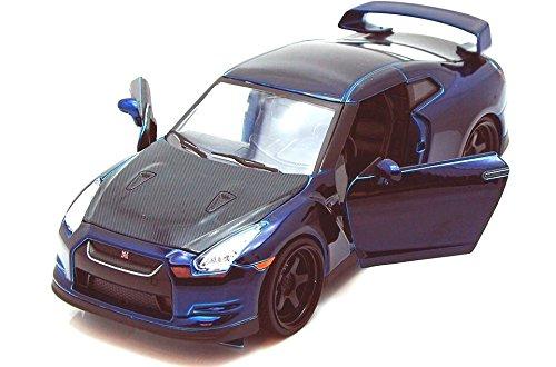 JADA FAST AND FURIOUS 7 BRIAN'S 2009 NISSAN SKYLINE GT R R35 1:24 BLUE