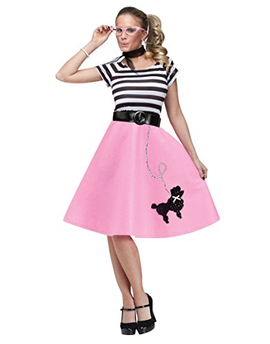 50's Halloween Costumes Adults (Fun World  Women's 50's Poodle Dress - Medium / Large)