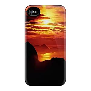 Shockproof/dirt-proof Mountain Sunset Covers Cases For Iphone(6)