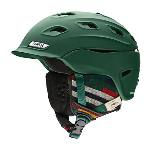 Smith Optics Vantage Adult Ski Snowmobile Helmet - Matte Forest Woolrich / Large
