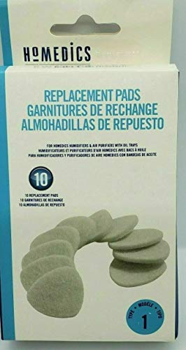 Homedics UHE-PAD1 Replacement Microfiber Pads, White ()