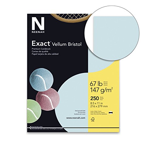 Exact Vellum Bristol Cardstock, 8-1/2 x 11 Inches, 67 lb, Blue, Pack of ()