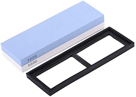 両面砥石キット1000/6000 専門の等級2の1の粗い粉砕およびシリコーンの基盤を含む精密な粉砕 (白い + 青)